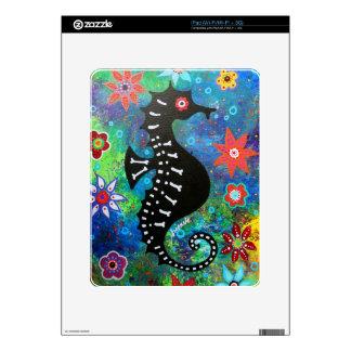 Dia de los Muertos Seahorse Calcomanía Para El iPad