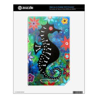 Dia de los Muertos Seahorse Skins Para NOOK Color