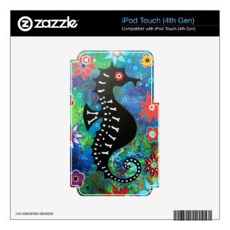 Dia de los Muertos Seahorse Calcomanía Para iPod Touch 4G