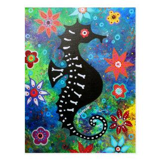 Dia de los Muertos Seahorse Postcard