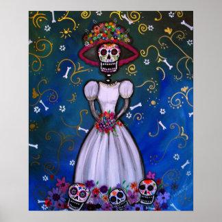 Dia de los muertos Senorita Bride Poster