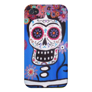 Dia de los Muertos Senorita iPhone 4/4S Cases