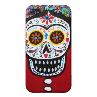 Dia de los Muertos Senorita iPhone 4 Cases