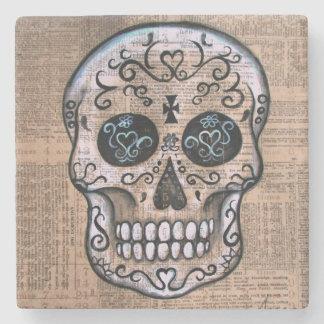 Dia de los Muertos Senyor by Prisarts Stone Coaster