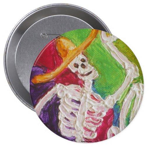 Dia De Los Muertos Skeleton Buttons