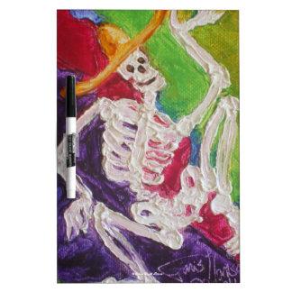Dia De Los Muertos Skeleton Dry Erase Board
