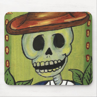 dia de los muertos skeleton dude print mousepad