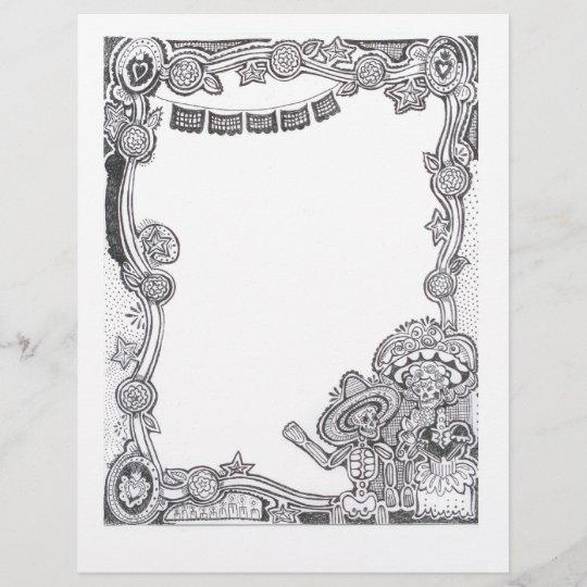 Dia De Los Muertos Skeleton Frame Zazzlecom