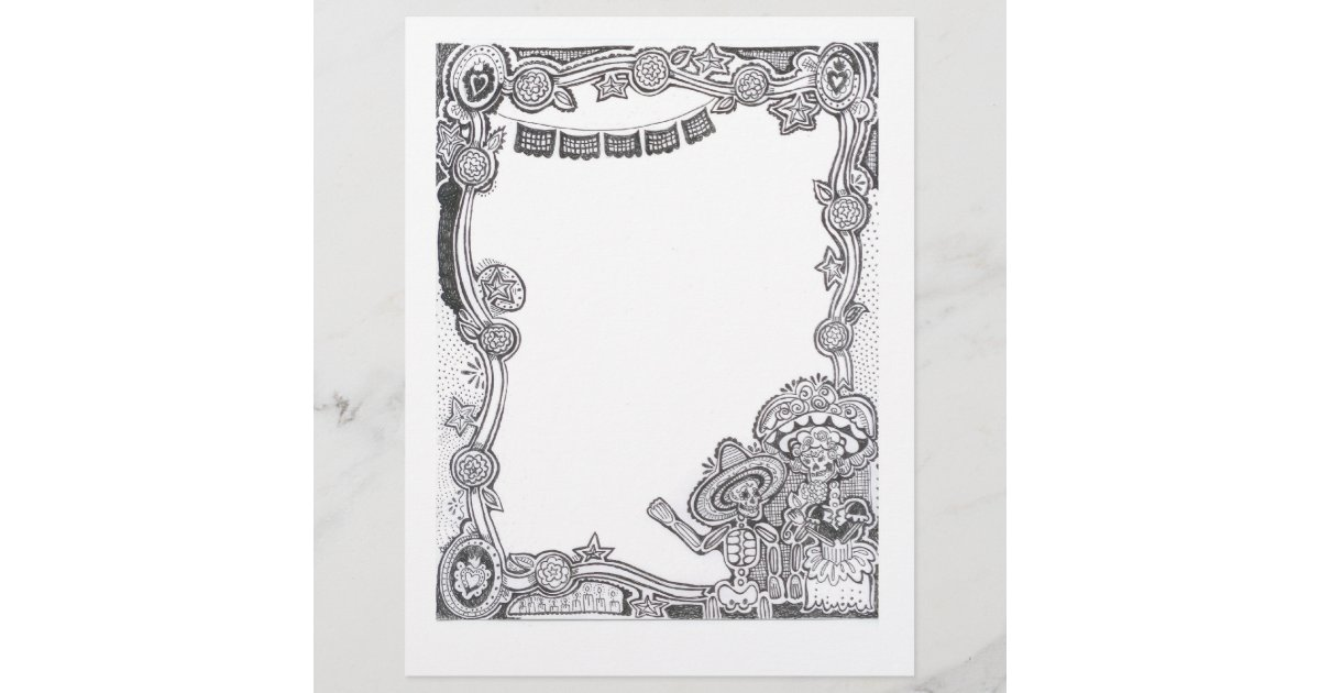 Dia De Los Muertos Skeleton Frame - | Zazzle.com