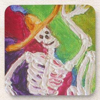 Dia De Los Muertos Skeleton Halloween Coaster