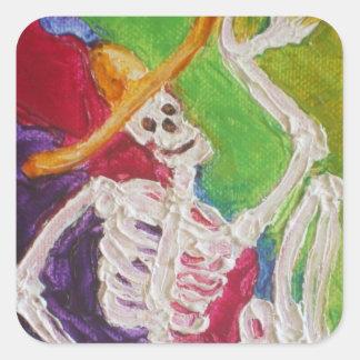 Dia De Los Muertos Skeleton Halloween Sticker