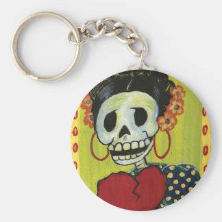 dia de los muertos skeleton keychain