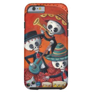 Dia de Los Muertos Skeleton Mariachi Trio Tough iPhone 6 Case