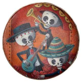 Dia de Los Muertos Skeleton Mariachi Trio Chocolate Covered Oreo