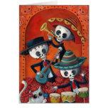 Dia de Los Muertos Skeleton Mariachi Trio Greeting Card
