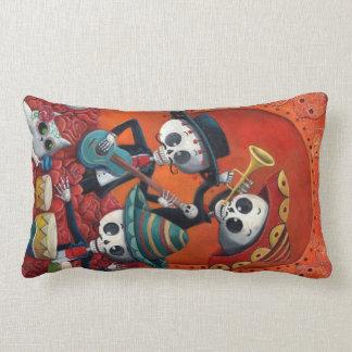 Dia de Los Muertos Skeleton Mariachi Trio Lumbar Pillow