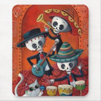 Dia de Los Muertos Skeleton Mariachi Trio Mousepad