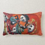 Dia de Los Muertos Skeleton Mariachi Trio Pillows