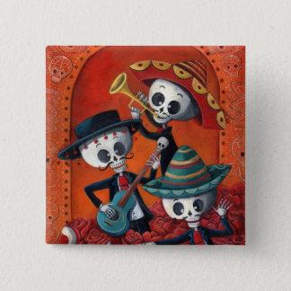 Dia de Los Muertos Skeleton Mariachi Trio Pinback Button