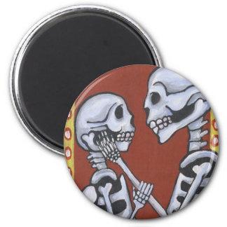 Dia de los muertos skeletons in love magnet