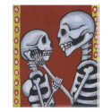 dia de los muertos skeletons in love print print