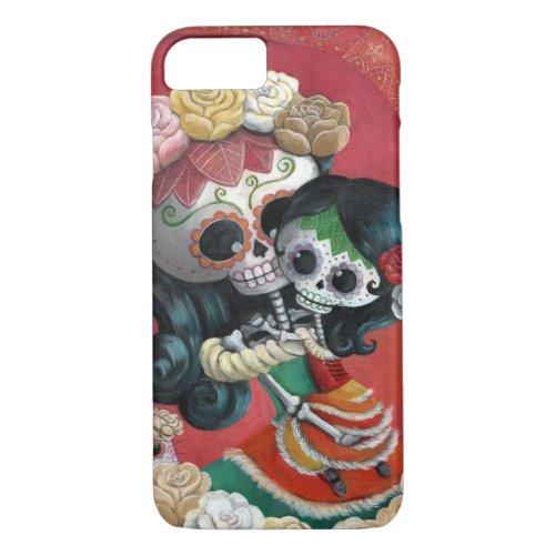 Dia de Los Muertos Skeletons Mother and Daughter Phone Case