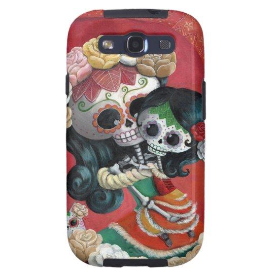 Dia de Los Muertos Skeletons Mother and Daughter Galaxy SIII Cover