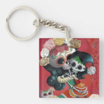 artsprojekt, mother's day, skeleton, mother, daughter, halloween, sugar skull, dia de los muertos, mothers day gifts, sugar skulls, dia de muertos, catrina, skull, day of the dead, mom, mum, mexican skeleton, mexican, gifts for mom, mothers day gift ideas, gift ideas for mom, gifts for mum, mothers day gift, presents for mum, birthday gifts for mom, day of the dead skull, mexican day of the dead, mothers and daughters, presents for mom, best gifts for mom, mexican sugar skull, day of the dead keychain, skeleton key chain, [[missing key: type_aif_keychai]] with custom graphic design