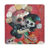 artsprojekt, mother's day, skeleton, mother, daughter, halloween, sugar skull, dia de los muertos, mothers day gifts, sugar skulls, dia de muertos, catrina, skull, day of the dead, cute, cute skeleton, calavera, candy skull, mom, mum, mexico, mexican skeleton, mexican, gifts for mom, mothers day gift ideas, gift ideas for mom, gifts for mum, mothers day gift, presents for mum, birthday gifts for mom, day of the dead skull, mexican day of the dead, mothers and daughters, presents for mom, best gifts for mom, mexican sugar skull, [[missing key: type_pioc_coasterpuzzl]] com design gráfico personalizado