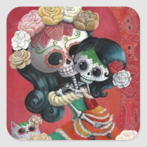 artsprojekt, mother's day, skeleton, mother, daughter, halloween, sugar skull, dia de los muertos, sugar skulls, day of the dead, mothers day gifts, dia de muertos, catrina, mom, mum, mexican skeleton, gifts for mom, mothers day gift ideas, gift ideas for mom, gifts for mum, mothers day gift, presents for mum, day of the dead skull, mexican day of the dead, mothers and daughters, presents for mom, best gifts for mom, mexican sugar skull, day of the dead stickers, dia de los muertos stickers, skeleton stickers, Sticker with custom graphic design