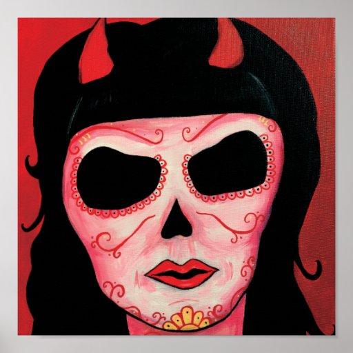 Dia de los Muertos Skeletons Satan Print