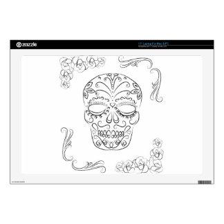 """Dia de los muertos 17"""" laptop skins"""