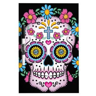 Dia de los Muertos Skull Tableros Blancos