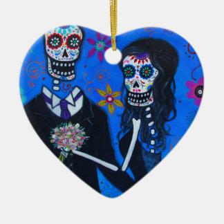 Dia de los Muertos Special Wedding Ceramic Ornament
