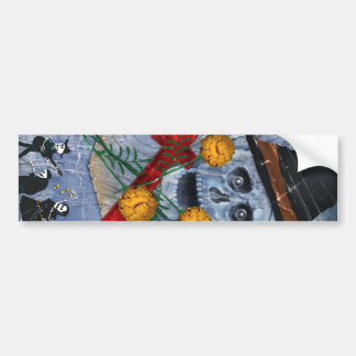 Dia De Los Muertos Sticker Etiqueta De Parachoque