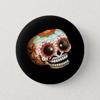Dia de Los Muertos Sugar Skull Art Button