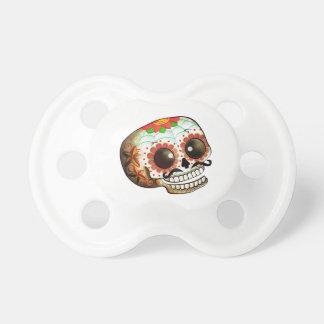 Dia de Los Muertos Sugar Skull Art Pacifier