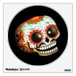 Dia de Los Muertos Sugar Skull Art Room Sticker