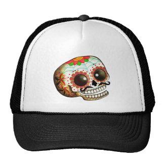 Dia de Los Muertos Sugar Skull Art Trucker Hat