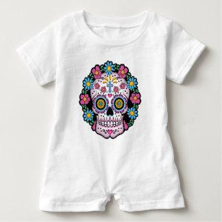 Dia de los Muertos Sugar Skull Baby Romper