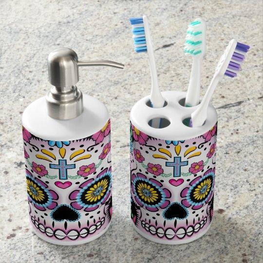 Dia De Los Muertos Sugar Skull Bathroom Set