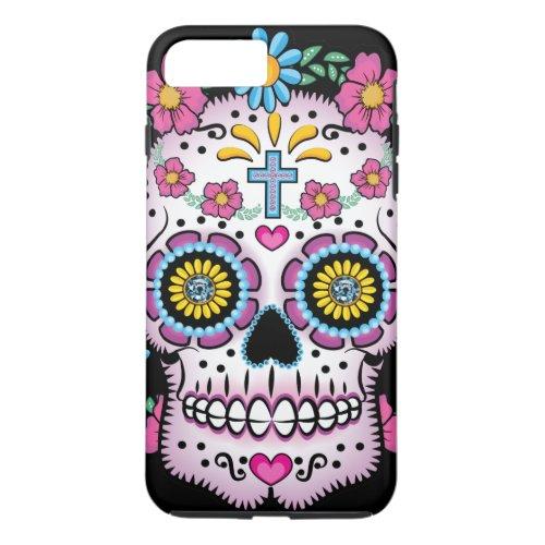 Dia de los Muertos Sugar Skull Phone Case