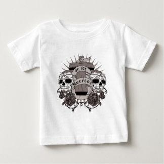 Dia De Los Muertos Sugar Skull Cross Roses Baby T-Shirt