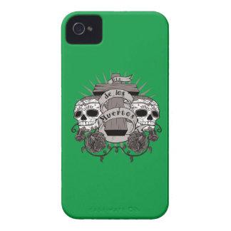 Dia De Los Muertos Sugar Skull Cross Roses iPhone 4 Case-Mate Case
