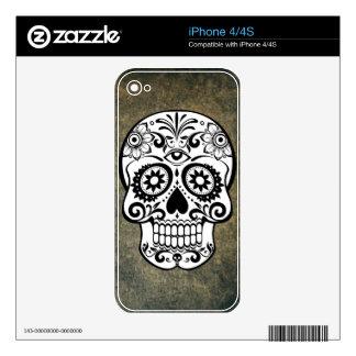 Dia De Los Muertos Sugar Skull iPhone 4S Skins