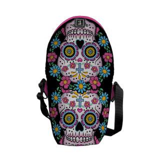 Dia de los Muertos Sugar Skull Messenger Bag