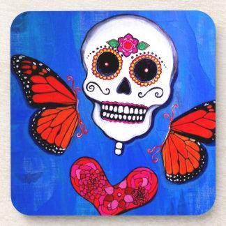 Dia De Los Muertos Sugar Skull Painting Coaster