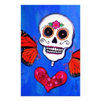 Dia De Los Muertos Sugar Skull Painting Stationery
