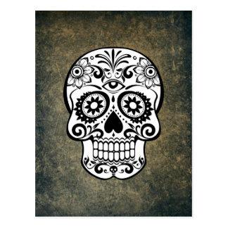 Dia De Los Muertos Sugar Skull Postcard
