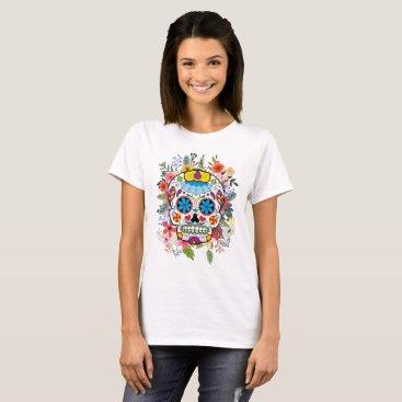 Halloween Themed Dia De Los Muertos Sugar Skull T-Shirt